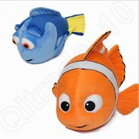 baby fish games - Kids Finding Nemo plush Toys Nemo and Dory fish cm Cute Clown Fish Stuffed Soft Toys for baby children gift OOA149