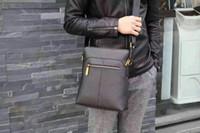 Wholesale 2016 New Fashion Men Business Shoulder BagSoft and Large Capacity Shoulder Bag Hot Mens Adjustable and Leather Bag