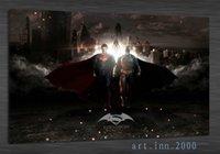 batman superman pictures - Original US high tech HD Print Portrait Oil Painting Wall Decor Art on Canvas superman batman x36