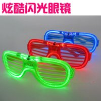 Wholesale 2016 Fashion Luminous Toy Led Adjustable Glasses Children s Cartoon Toy Party LED Light Glasses Flashing Shutters Shape Glasses