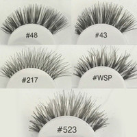 Wholesale NEW Fashion Pro soft False Fake Human Hair Eyelashes Adhesives Glamour Eye lashes Red_Cherry Makeup Beauty