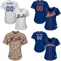 Wholesale custom women new york mets Customized New blank Cool Base Jersey stitched size S XL