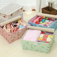 Wholesale 600D Oxford Cloth Storage Box Container Drawer Divider Lidded Closet Box Socks Bra Underwear Organizer Boxes with Cover JC0196