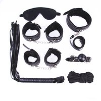 Wholesale Sex Game Strap on bondage Set Leather Plush Four Colors whip collar Mouth ball gag erotic toys sex toys for couples sex shop