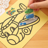 Wholesale 1000lots A cm Sand Painting With Color Sand Kids DIY Toys Mixed Design Send Sand Art Kit jy306