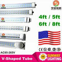led tube light - r17d led tubes W T8 ft FA8 Single Pin G13 R17D Integrated Double Sides smd2835 Led Light Tubes foot UL AC V