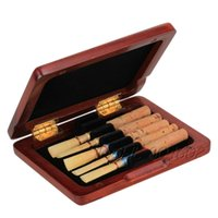 Wholesale Beautiful Wooden Oboe Reed Box Hold Reeds Strong Reed Case Red