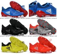 Wholesale 2016 New X Purechaos FG AG soccer boots Pure Control Football Shoes Soccer Cleats Boots Cheap Mens Shoes Original Quality EUR39