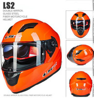 Wholesale 2016 New motor helmet LS2 ff320 dual lens motocross helmet motorcycle full face helmet safety adjustable airbags