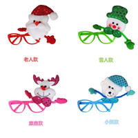Wholesale Creative products Christmas glass frame Christmas decorations of glasses children s style fashion embodies the Christmas atmosphere chil