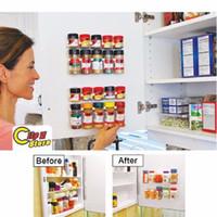 Wholesale Spice clips Organizer Rack Cabinet Door Spice Clips Store N Spice Spice Gripper Clip Strips Cabinet x clips strip