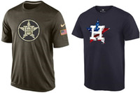astros t shirts - MLB Houston Astros T Shirts cheap baseball jerseys Banner Wave Salute To Service Tshirts freeshipping