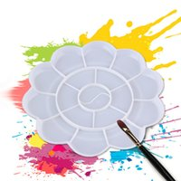 artist flowers painting - Flower Shape Plastic Plate Artist Mixing Paint Palette Watercolours NEW Hot Selling