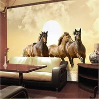 animal house horse - HD Four running horse photo wall paper Animal Wall Mural Modern Art Wallpaper Bedroom Livingroom background wall Gifts Home decor