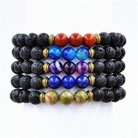 balance bracelete - Natural Lapis Lazuli Stone Lava Lmperial Stone Beads Healing Balance Bracelete Beaded Yoga Bracelet Reiki mm Bead Buddha to buddha