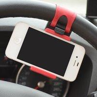 Wholesale universal Car Steering Wheel Cradle Holder SMART Clip Car Bike Cell Phone Mounts