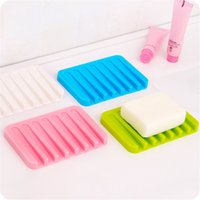 bath soap dish - HOME BATHROOM TOILET KITCHEN SILICONE FLEXIBLE SOAP DISH PLATE HOLDER BATH STORAGE SOAPBOX CASE TRAY BATH CANDY COLOR