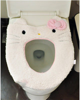 Cheap Cute Cartoon Toilet Seat Covers Plush Sitting Pad Toilet Seat Pad Can Be Used Repeatedly Cushion Hello Kitty Blending Toilet Seat