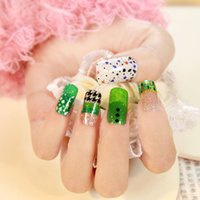 Wholesale Glittering fake nail stickers pack Bling Bling False nail sticker full cover decoration nail art stickers nail polish manicure Packs