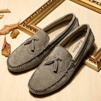 Wholesale New Fashion Handmade Loafer Shoes Genuine Leather Casual Men s Shoes Driving Set Foot Lazy Style Autumn Flat Slip on