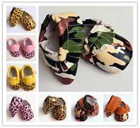 baby shoes usa - Fashion spring Fall baby shoes camo Leopard moccasins tassels infants soft PU leather first walker boy girl shoes European USA popular