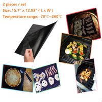 Wholesale 2 Pieces Set Times Use Centigrade Degree High Temperature Resistant Non Stick BBQ Grill Mat Baking Mat Easy To Clean