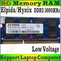 Wholesale Low Voltage Elpida Hynix Memory RAM PC3L g GB g GB DDR3L MHz FOR Laptop Notebook PC Compatible MHz PC3L S
