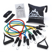 anchor ropes - Black Mountain Products Resistance Band Set with Door Anchor Ankle Strap Exercise Chart and Resistance Band Carrying Case