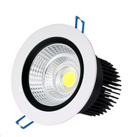 Wholesale Dimmable w w w w w W w LED downlight COB led downlights round LED recessed ceiling down lights LED spotlight bulbs