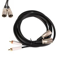 Wholesale Male Dual RCA Male Double Microphone Extension Cable Great Texture High Purity Copper Wire