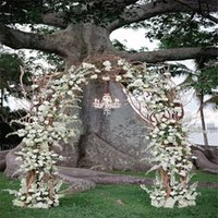 Wholesale 8 Meter Artificial Vine Fake Plastic Rattan Lattice Wall Bouquet Wedding Home Garden Party Coffee Shop Decoration Product Code A