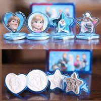 Wholesale pc Inkpad Princess Elsa Toys Seal Stamp Collectible Model Toy Kristoff Hans Olaf Sven Elsa Anna cm