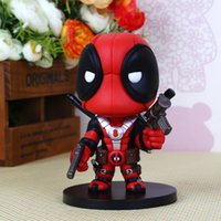 Wholesale 2016 Newest Movie Deadpool Action Figure Q Version PVC Figures Collectible Deadpool Toy Doll Kids Gifts With Box