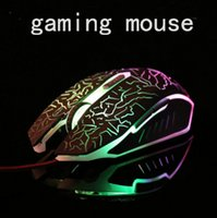 Wholesale Wrangler computer USB cable crack luminous Internet cafes office mouse game