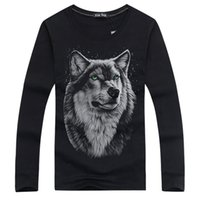 basic fashion for men - Autumn New Long Sleeved T shirt for Men Fashion Casual Male Cotton T Shirt Men s Tops Tees Basic Shirts Large Size Wolf