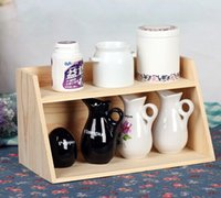 Wholesale Zakka layers Size cm Wooden Housekeeping Sundries Medicine Cosmetic Toys Keys Storage Organization Vase Case Pot Box Display Rack