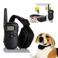 Wholesale 300 Meters Remote Control Electric Anti bark Pet Dog Training Collar lv Shock Vibra Trainer Vibrador Lcd Display Retail Box