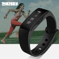 Wholesale Skmei White Silicone - SKMEI Brand Men's Women's Smart Blue Watches For Mens Lady'S LED Digital Sport Monitoring Bracelet Chronograph Wristwatch Watch