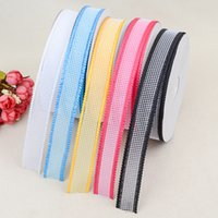Wholesale Bow Headband Ribbon Fashion Cute Kids Multi Color Hollow Out Candy Headbands Ribbon Multi Color Y mm Webbing