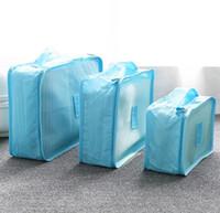 beads cosmetic bags - 9 colors Bag in Bag Travel Organiser Piece Set Bags Fashion Busniess Trip Tidy Bag Clothes Cosmetic Washing Handbag