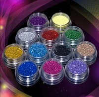 Wholesale 12 Mix Color Set Nail Art Glitter Powder Dust For UV GEL Acrylic Decoration Tips ratings