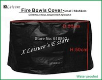 Wholesale Fire Pits Cover Protective cover for Fire Pits Fire Bowls Fire Baskets Cover D50 x H50CM