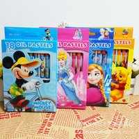 Wholesale Children Frozen Crayons Colors Washable Non poisonous Oil Pastels Kids Draw Cartoon Princess Elsa Crayons