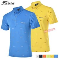 brand golf shirt - 2016 spring and summer men golf shirt short sleeve polo shirt men s clothing breathable golf brand high elastic T shirt
