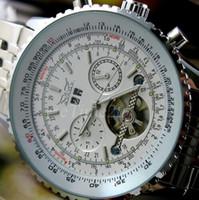 Prezzi Orologi jaragar-Uomini Orologio da polso Full Acciaio lusso di marca JARAGAR orologi esercito meccanico automatico tourbillon multi vigilanza di funzione