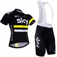Wholesale team sky cycling Jerseys bike maillot ciclismo cycling clothing quick dry men s yellow summer bicycle clothes sportwear
