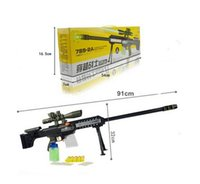 Wholesale Pistol Nerf Toy Guns Absorbed Water EVA Soft Bullets With Flash Light Music Sound Gifts For Boy Size cm Color Black