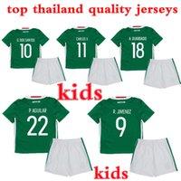 Wholesale 2016 Mexico kids Jerseys uniforms G dos santos Mexico National Football Shirt M layun C vela camisetas de futbol