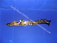 Wholesale Bb Curved Soprano Saxophone Black Nickel Finish Hand engraving With Foambody Case Shipping time days