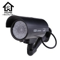 Wholesale Security Dummy Camera Outdoor Fake Cameras For Home cctv Camera With Flash Red LED Waterproof cctv camera